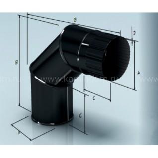 Отвод эмалированный для дымохода 90° Lokki