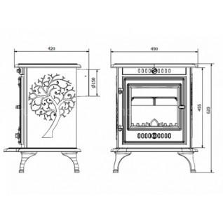 Отопительная печь Kaw-Met P 10