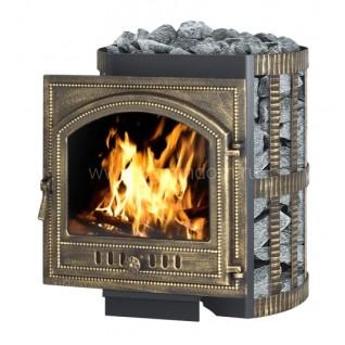 Дровяная печь-камин для бани Везувий Скиф 22