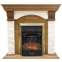 Портал Royal Flame Dublin арочный скальный белый под очаг Majestic FX / Fobos FX