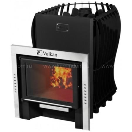 Дровяная печь для бани Вулкан Этна 20 Премиум Панорама