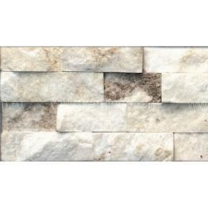 Кварцит LK серебристо-белый (натуральный камень) 150х600