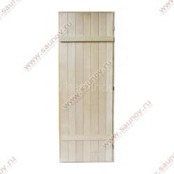 Дверь для бани и сауны из липы Щитовая (массив)