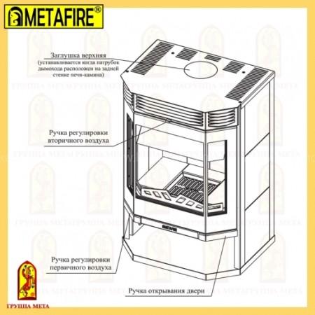 Печь-камин МЕТА MetaFire Ангара 12 с плитой