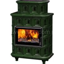 Изразцовая печь-камин Эльзас Арка зеленая