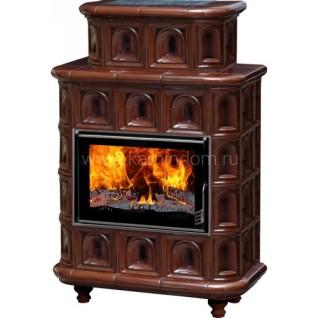 Изразцовая печь-камин Эльзас Арка коричневая