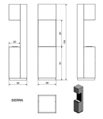 Биокамин Kratki Sierra