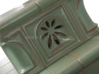 Изразцовая печь-камин Hein Baracca 3 с надстройкой керамика