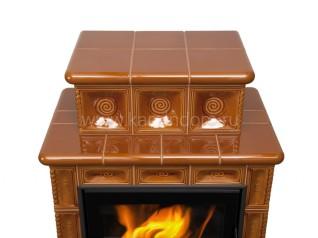 Изразцовая печь-камин Hein Baracca 4 с надстройкой керамика
