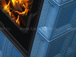 Изразцовая печь-камин Hein Baracca 7 с надстройкой керамика