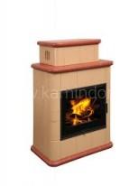 Изразцовая печь-камин Hein Baracca 2 керамика с теплообменником