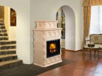 Изразцовая печь-камин Hein Baracca 3 керамика с теплообменником