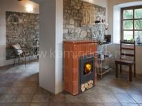 Изразцовая печь-камин Hein Catania 1