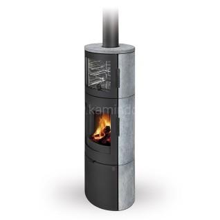 Печь-камин Romotop Lugo 01 Black с духовкой керамика