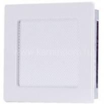 Вентиляционная решетка белая 17х17 см