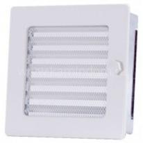 Вентиляционная решетка с жалюзи белая 17х17 мм