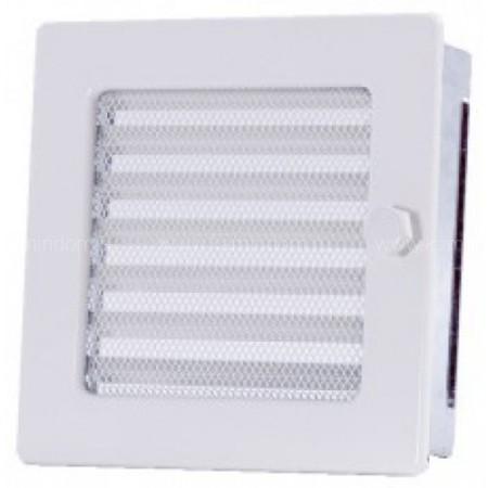 Вентиляционная решетка с жалюзи белая 17х17 см