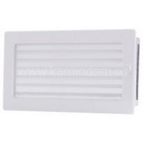 Вентиляционная решетка с жалюзи белая 17х30 см