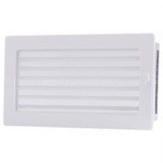 Вентиляционная решетка с жалюзи белая 17х30 мм