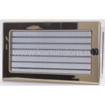 Вентиляционная решетка с жалюзи золото 17х30 см