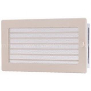 Вентиляционная решетка с жалюзи кремовая 17х30 мм
