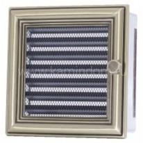 Вентиляционная решетка с жалюзи ретро 17х17 см