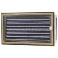 Вентиляционная решетка с жалюзи ретро 17х30 мм