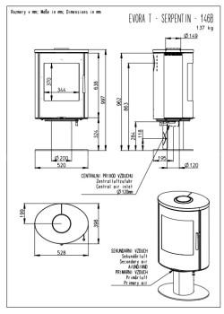 Печь-камин Romotop Evora T 07 песчаник