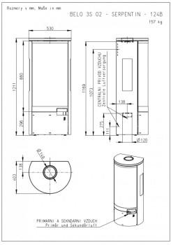 Печь-камин Romotop Belo 3S талькохлорид