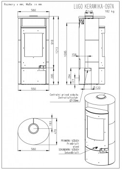 Печь-камин Romotop LUGO металл