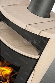 Печь-камин Romotop LUGO песчаник
