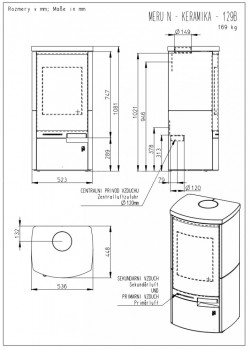 Печь-камин Romotop MERU N 02 камень
