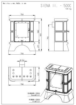 Печь-камин Romotop SIENA 2