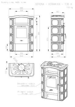 Печь-камин Romotop GERONA керамика