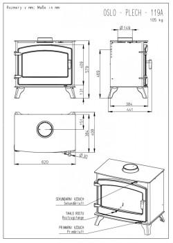 Печь-камин Romotop OSLO
