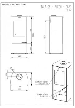 Печь-камин Romotop TALA 11 с теплообменником