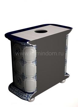 Изразцовая печь КимрПечь Прованс пристенный Дельфт