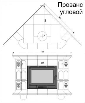 Изразцовая печь КимрПечь Прованс угловой Дельфт