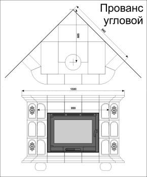 Изразцовая печь КимрПечь Прованс угловой Луг