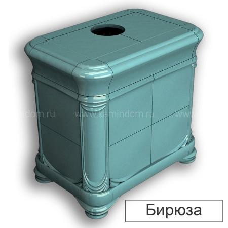 Изразцовая печь-камин КимрПечь Модерн центральная с топкой