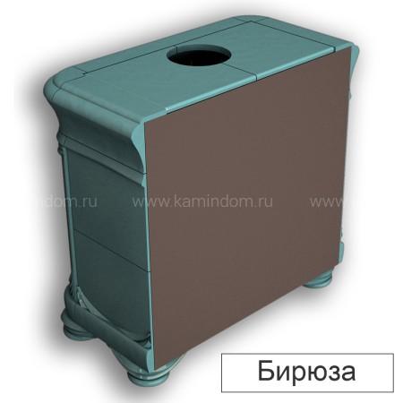 Изразцовая печь-камин КимрПечь Модерн пристенная с топкой