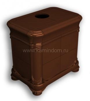 Изразцовая печь КимрПечь Модерн центральный Шоколад