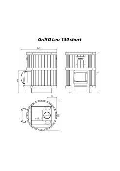 Печь для бани Grill-D Leo 130 Long black