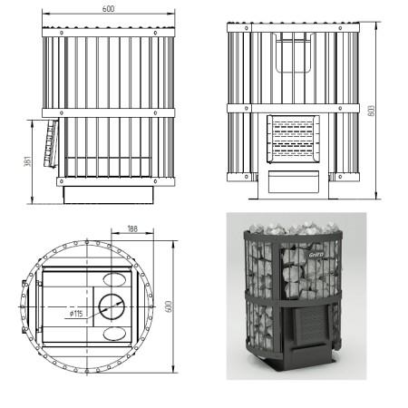 Печь для бани Grill-D Leo 240 short black
