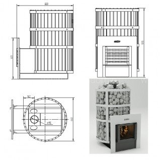 Печь для бани Grill-D Leo 300 window grey