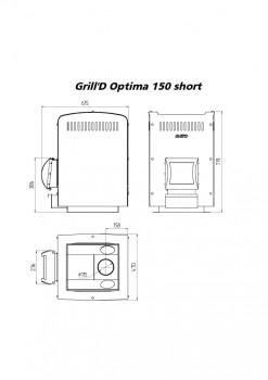 Печь для бани Grill-D Optima 150 short
