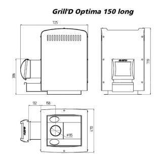Печь для бани Grill-D Optima 150 long