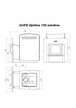 Печь для бани Grill-D Optima 150 window