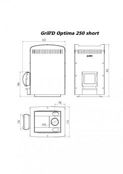 Печь для бани Grill-D Optima 250 short