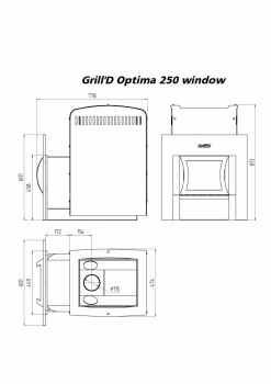 Печь для бани Grill-D Optima 250 window